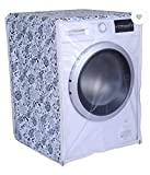 Front Load Washing Machine Cover for Samsung 5.5 Kg, 6 Kg & 6.5 Kg (50Cmsx63Cmsx81Cms_White,Grey) Pack of : 1 Washing Machin Cover (Premium Quality Sold by S S Distributors)