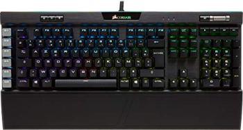 Corsair K95 RGB Platinum Clavier Mécanique Gaming (Cherry MX Speed, Rétro-Éclairage RGB Multicolore, AZERTY) Noir
