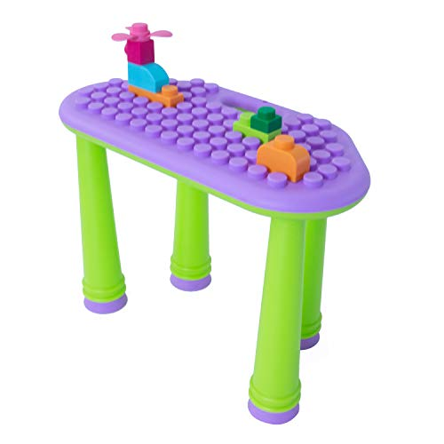 UNiPLAY Indoor/Outdoor Toddler Activity Table Set with 25...