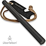 "überleben Hexå Fire Starter | 3"" x 1/2"" Thick Hexagon Bushcraft Fire Steel 