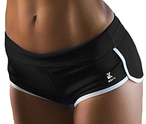 Kipro Damen Weich Sexy Slim Fit Kurze Hosen Black L