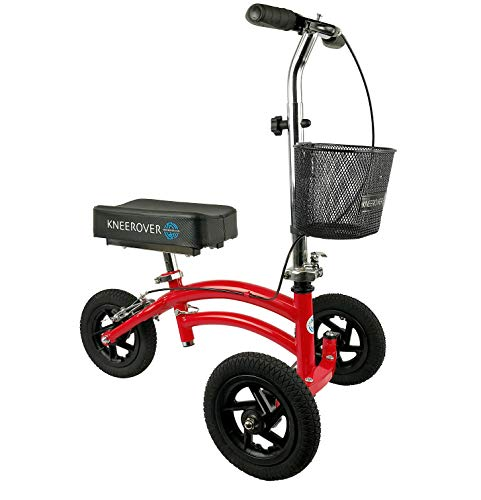 KneeRover Jr - Small Adult and Kids All Terrain Knee Scooter in Red