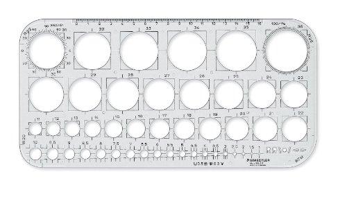 Staedtler Mars 576 01 F Kreisschablone, transparent