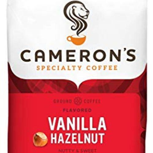 Cameron's Coffee Roasted Ground, Flavored, Vanilla Hazelnut, 32 Ounce