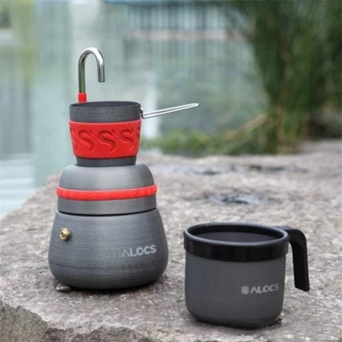 Zhangxia Outdoor Camping Tool Kaffeekocher mit 2 Kaffeetassen