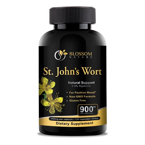 St.John's Wort 900mg Supplement-Natural Support for Positive...