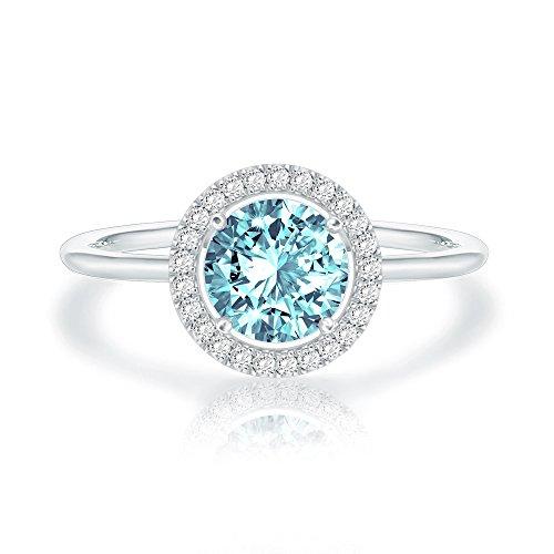 Swarovski Crystal 14K White Gold Plated Birthstone Rings  ...