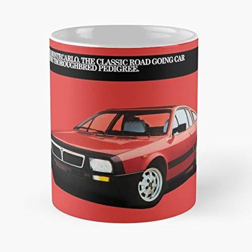 everyonic Beta Monte Cars Sports Lancia Carlo Coupe Montecarlo Car La Migliore Tazza Contiene 11 Once di Ceramica di Marmo Bianco