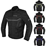 JAYEFO-ALPHA CYCLE GEAR MOTORCYCLE ALL SEASON JACKET (BLACK, LARGE)