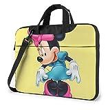 Bolsa para portátil de 15,6 Pulgadas Beauty Minnie Mouse Maletín para portátil Bolso Bandolera para Hombro Funda