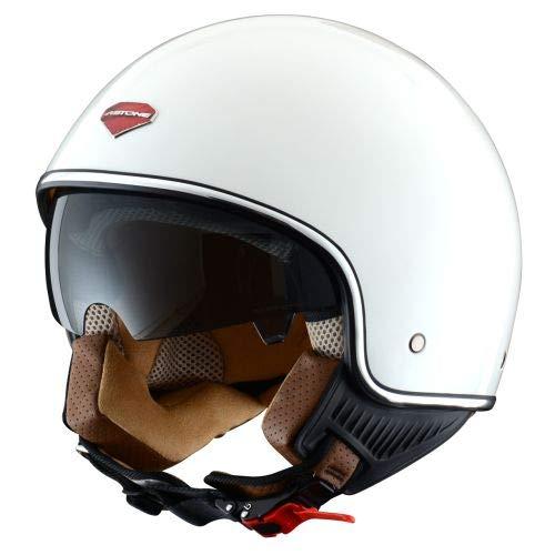 Astone Helmets - Minijet rétro - Casque jet rétro - Casque de moto vintage - Casque café racer- Casque en polycarbonate - gloss white M