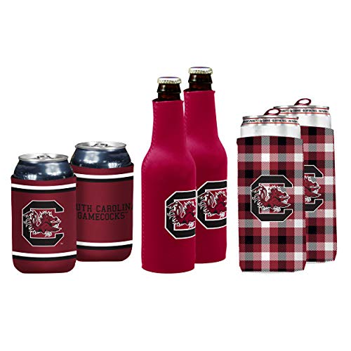 NCAA Logo Brands South Carolina Fighting Gamecocks Coozie Variety Pack, Team Color (Sports)