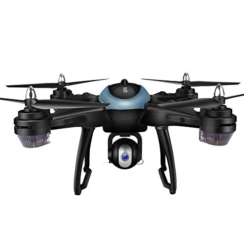 Yesmile Drone Quadcopter GPS Telecamera 1080P HD Drone Professionale T25 GPS con Grandangolare Regolabile Camera HD WiFi FPV Quadricottero Funzione Seguimi modalit Senza Testa Yesmile