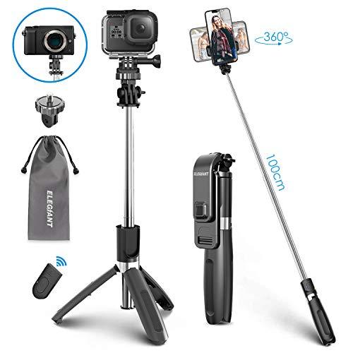 ELEGIANT Palo Selfie Trípode Bluetooth, 4 en 1 Selfie Stick Móvil...