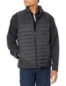 Amazon Essentials Men's Lightweight Water-Resistant Packable Puffer Vest, Black, Large