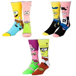 Odd Sox, Unisex, Nickelodeon, SpongeBob SquarePants Socks, Cartoon Novelty Socks