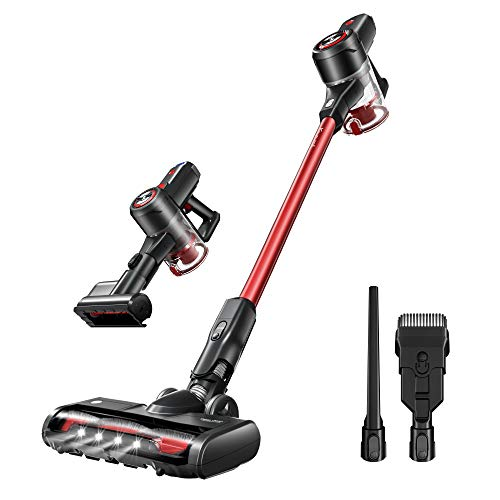 Kyvol V20 Cordless Vacuum Cleaner, 25Kpa Strong Suction, 40 mins Runtime, Ultra-Quiet, Lightweight, Detachable Battery, 2 in 1 Cordless Stick Vacuum for Deep Clean Pet Hair Carpet Hard Floor