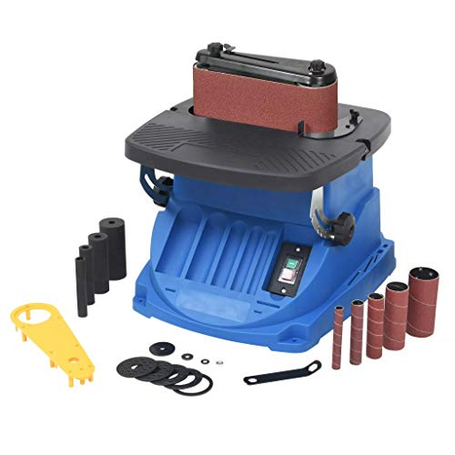 Nishore 20Pcs Oszillierender | Spindelschleifer | Spindelschleifmaschine | Oszillierende Spindel- und Bandschleifmaschine Blau