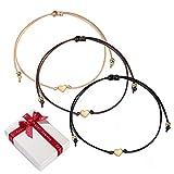 zooting 3pcs Rose Or Coeur Bracelets D'amitié Ensemble pour Femmes Filles,...