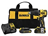 DEWALT ATOMIC 20V MAX Hammer Drill, Cordless, Compact, 1/2-Inch, 2 Batteries (DCD709C2)