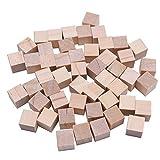 QINGRUI Couture Artisanat Blocs carrés en Bois de Bricolage Blanc 1/1.5/2 / 2.5cm Cubes Solides en Bois pour boiserie Artisanale Enfants Jouet Puzzle matières Décoration d'intérieur