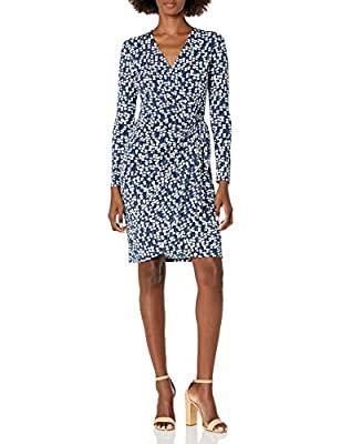 Flattering shirring and smoothing matte fabric create a beautiful drape on this long-sleeve wrap dress with a crossover hem Our Compact Matte Jersey fabric is a customer favorite that is versatile enough to be worn to work, cocktail hour or a dinner ...