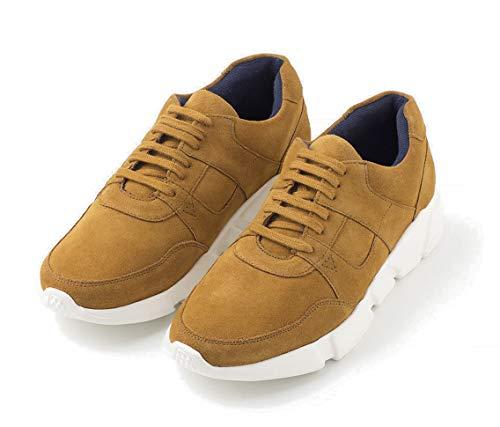 TEX - Zapatos Deportivos De Cuero para Hombre, Camel, 42 EU