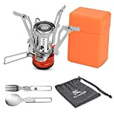 Extremus Portable Camp Stove, Compact Wind Resistant Camping Stove for Backpacking, Hiking, Camping, and Tailgating