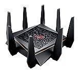 ASUS WiFi 無線 ゲーミングルーター AC5300 11ac 2167+2167+1000Mbps トライバンド GT-AC5300 【最大24台 4LDK 3階建 PS4 対応】