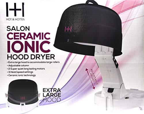 Hot & Hotter Salon Ceramic Ionic Hood Dryer #5916