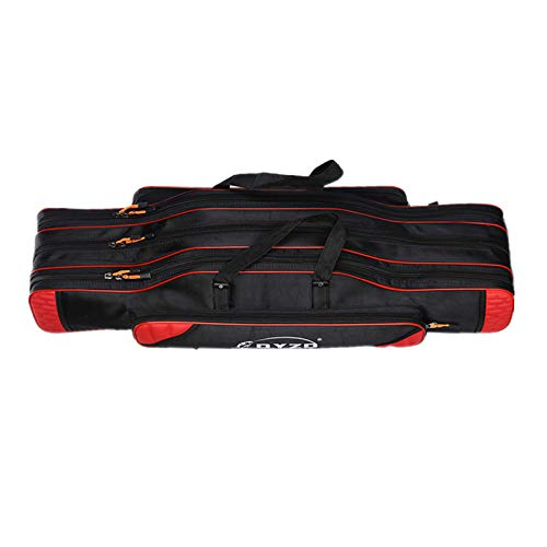 UNISTRENGH Fishing Rod Case Portable Folding Fishing Rod Case Fishing Pole Reel Storage Bag Fishing...