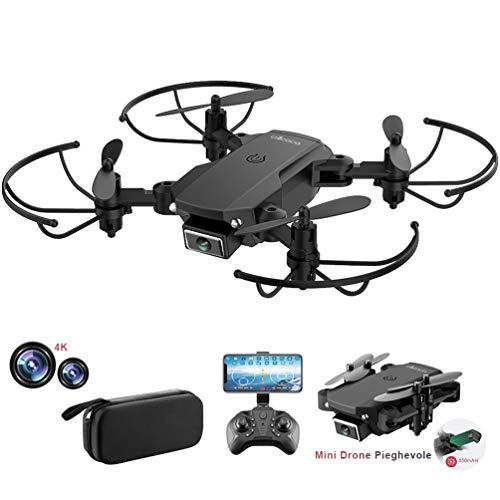 allcaca RC Mini Drone con Telecamera 4K HD Doppia, RC Quadcopter Drone Pieghevole WiFi FPV Drone, Un...