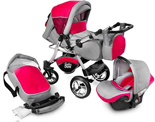 GagaDumi Urbano Passeggino TRIO Baby Carrozzina 3in1 Seggioliono OVETTO AUTO,Fatto nell'Unione...