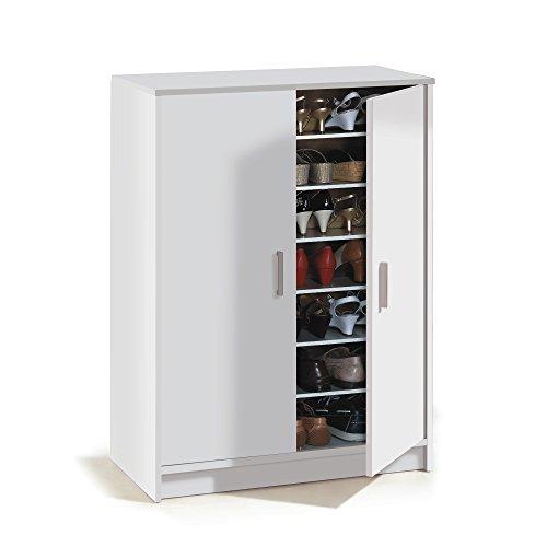 Habitdesign 007853O - Mueble zapatero Basic, mueble zapatero auxiliar medidas: 1,01 x 75 x 36 cm fondo