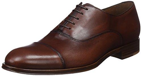 Lottusse L6965, Zapatos Oxford Puntera Recta Hombre, Marrón (Ebony Tabac 000), 41 EU