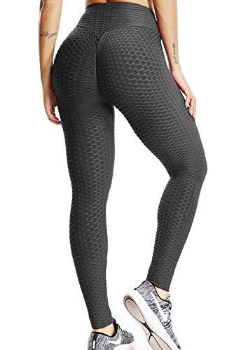 FITTOO Mallas Pantalones Deportivos Leggings Mujer Yoga de Alta Cintura Elásticos Yoga Running FitnessNegroM