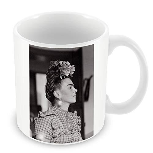 Taza de Cerámica Foto de la Famosa Estrella Frida Kahlo Pintor Original 16