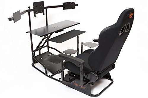 Volair Sim Universal Flight or Racing Simulation Cockpit Chassis with Triple Monitor Mounts 5