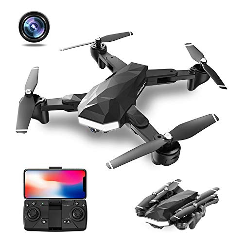 CIVORC M07 Foldable Drone with 1080P HD Dual Camera FPV WiFi RC Quadcopter for Beginners, Optical Flow Positioning, follow me, Gesture Control, Trajectory Flight, 3 different speeds, 360 flips