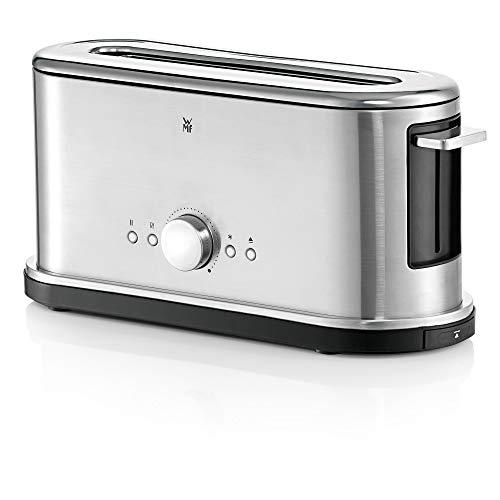 WMF Lineo Toaster Langschlitz mit Brötchenaufsatz, 2 Scheiben, XXL-Toast, Bagel-Funktion, 10 Bräunungsstufen, 900 W Toaster edelstahl matt