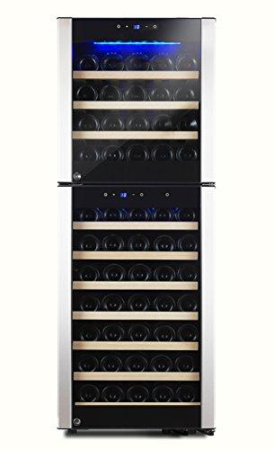 Kalamera Design cantinetta per fino a 73bottiglie bottiglie di vino frigorifero (due zone fino a...