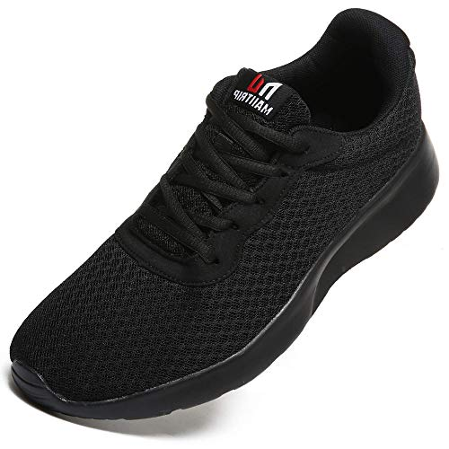 Men's Trainers Road Running Shoes CasualMesh Athletic Sneakers for Gym Sports Fitness,Black/Black,UK 7-41