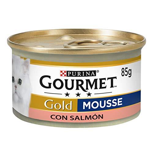 Purina Gourmet Gold Mousse comida para gatos con Salmón 24 x 85 g
