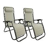 MaxxGarden Lot de 2 chaises longues de jardin pliables et réglables...