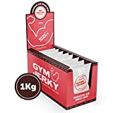 Gym Jerky Beef African Chili 1kg - 25x40g High Protein - Low Fat & Low Carb - Deutsches Premium-Rindfleisch Made in Germany