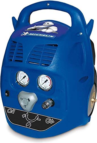 MICHELIN Compresseur d'Air Portatif MCX6U - Cuve 6 Litres - Sans Huile - Moteur 1.5 cv - Pression Maximale 8 bar - Débit d'Air 160 l/min - 9.6 m³/h