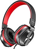 PeohZarr On-Ear Headphones with Microphone, Lightweight Folding Stereo Bass Headphones with 1.5M...