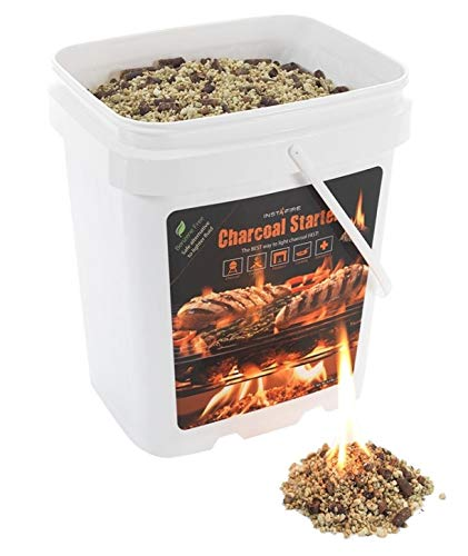 InstaFire Granulated Fire Starter, All Natural, Eco-Friendly, Lights up to 250 Total Fires in Any Weather, Awarded 2017 Fire Starter Of The Year, 2-Gallon Bucket
