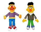 Sesame. Street Plush Toys : Ernie-Bert- ,Official Licensed,(40cm/15.7') (Pack of 2)
