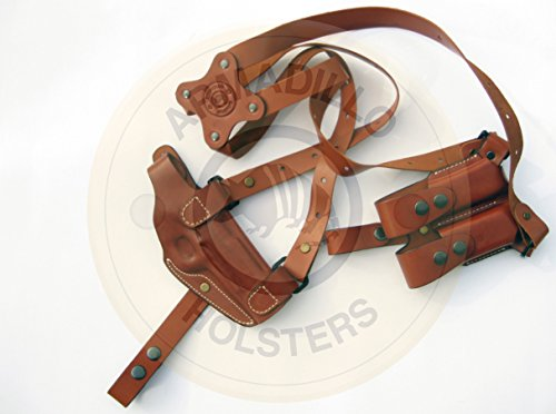 Armadillo Tan Leather Shoulder Holster Right Hand Draw for Glock 20, 21, 29, 30, 37, 41